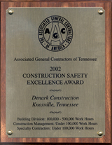 AGC Construction Safety Excellence Award 2002