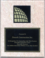 workplace safety plaque